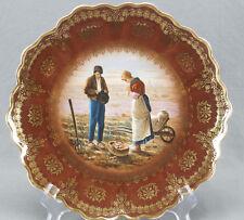 RS Prussia Zeh Scherzer Royal Vienna Style Jean-Francois Millet Angelus Plate