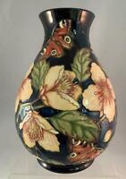"Moorcroft AMBER GLOW L Ed Vase Sian Leeper 10"" Butterflies 2005  #58 Of 150 NICE"
