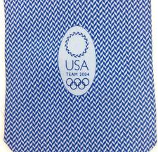 """euc Team USA 2004 Athens Olympics Blue White Chevron 100% Silk Neck Tie 66"""" x 4"""""""
