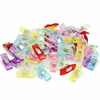 50/100Pcs Plastic Holding Clip Set Crafts Quilting Sewing Knitting Crochet DIY