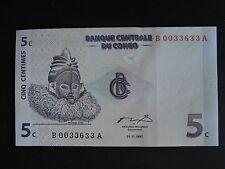 "CONGO RDC 5c de 1997 état neuf  ""unc"""