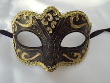Venetian Masquerade Eye Mask Party Fancy Dress Prom  GOLD & BRONZE