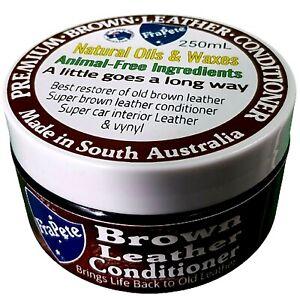 Frapete Premium Brown Leather Conditioner Leather Restore & Protector Balm 250mL