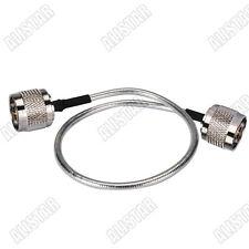 N plug male to N-Type male plug connector , Semi-Flexible-.141
