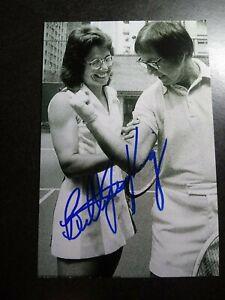 BILLIE JEAN KING Authentic Hand Signed Autograph 4X6 Photo - TENNIS LEGEND