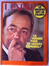 L'express 10/11/1975; Franco, la guerre pour le Sahara Espagnol/ Patty Hearst