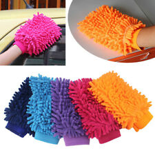 Super Mitt Microfiber Car Wash Washing Cleaning Glove Dual Sided Chenille Gloves