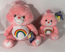 "NWT Care Bears 2 Pc Set Cheer Bear 12"" & 7"" CELEBRATION COLLECTION Plush"