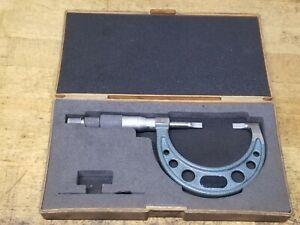"Mitutoyo 1-2"" Outside Diameter Blade Micrometer No 122-126 Case"