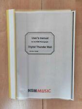 NSM Digital Thunder Wall ES 5.1 wallbox jukebox installation and user manual