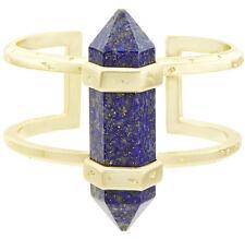"$150 Kendra Scott Shelli 14K Yellow Gold Blue Lapis 7"" Cuff Bracelet NWT"