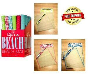 New Beach Mat Roll Up Zip Cover Shoulder Strap Travel Picnic Holiday Camping
