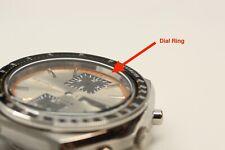 New Chrome Dial Ring for Seiko 6138-0030 6138 0039 Kakume Steel  inner bezel