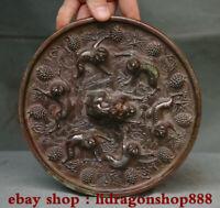 """7.4 """"Collection de miroir rond en bronze chinois ancien motif palais chinois"""