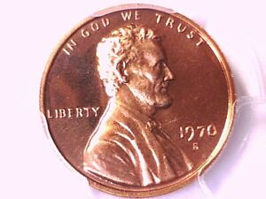 1970 S Lincoln Memorial Cent PCGS PR 68 RD CAM Large Date 36839604