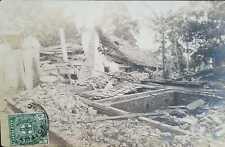 O) 1906 JAMAICA, POSTAL CARD DESTRUCTION- STAMP ARMS OF JAMAICA SC. 58 1/2p gree