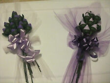 HERSHEY KISS CHOCOLATE ROSES 12Rose/B-FLY&BOW U PICK COLOR GIFT FAVORS FREE SHIP