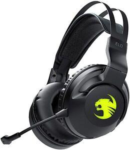 Roccat Elo 7.1 Air Gaming Headset RGB Kabellos 7.1 Surround Sound PC schwarz
