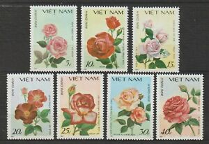 1988 Vietnam Stamps Roses Collection Scott # 1823-1829 MNH