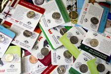 BULK Mix lots of 50x 2017 Legend of Anzac 20c & 25c Carded Coins