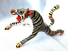 TIGER Alebrije Hand Painted Oaxacan Wood Carving Folk Art Oaxaca Mexico