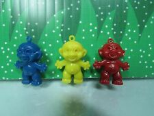 "Three Vintage Gumball Trolls - 1"" Unmarked - New"