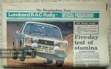 LOMBARD RAC RALLY Official Programme 22-26 Nov 1975 NEWSPAPER FORMAT