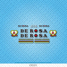 De Rosa Bicycle Decals - Transfers - Stickers - Black & White Text - Set 0531
