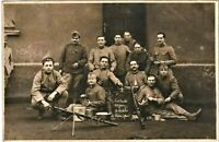 MACHINE GUN TEAM 1923 FRENCH REGIMENT SOLDIERS ANTIQUE PHOTO POSTCARD