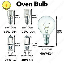 Oven Bulb Cooker Appliance Lamp Light 15W 25W 40W 240V SES E14 G9 Branded