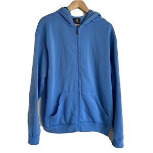 Mr Kangaroo Australia Hoodie Jumper Size 2XL Mens Blue Full Zip Cotton Blend