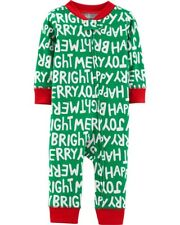 Carter's Baby Girls' 1 Piece Snug Fit Cotton Romper Holiday Green 3M