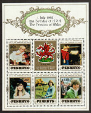 Penrhyn Stamp - 21st birthday of Princess Diana Stamp - NH