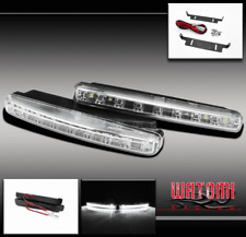 "UNIVERSAL 8-LED WHITE 6"" EURO DRL DAYTIME RUNNING HEAD FOG LIGHTS SUBARU PONTIAC"