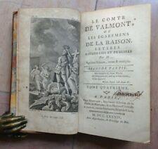 LE COMTE DE VALMONT Ou Les Égaremens De La Raison 1784 2e partie Tome 4 ILLUSTRE