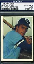 GEORGE BRETT ROOKIE PSA DNA COA Autographed 1975 SSPC Authentic Hand Signed