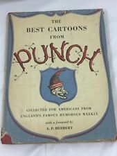 VINTAGE The Best Cartoons from PUNCH 1st ED 1952 Hardcover w/DJ 26059