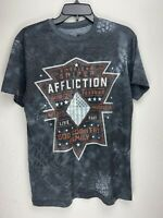 Affliction Short Sleeve T-Shirt Mens CHRIS KYLE Gray