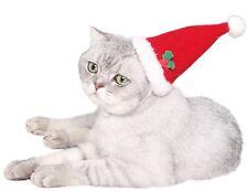 PET Boy Girl Cane Gatto Natale Xmas Babbo Natale Costume Vestito Cappello