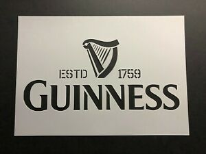 Guinness Stencil St Patrick Day Beer Art Painting Airbrush craft Mylar sheet