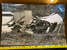 Tabloid Paper Original Press Photo 1980 Plane Crash Close Up