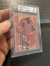 Michael Jordan BGS 7 Fleer Flair Hardwood Leader 1995 #4 LAST DANCE Chicago Bull