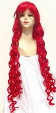 Parrucca Extra Lunga Mossa Boccoli Rossa - long red curly wig