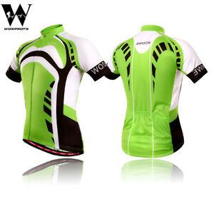 Men's Cycling Jersey Bike Short Sleeve Team Wear Shirt Full Zipper Riding Tops