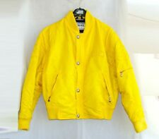VERSACE sport padded bomber jacket yellow sun gianni 46 S gold medusa head short