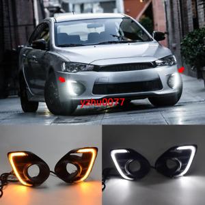 2016-2017 For Mitsubishi Lancer LED Daytime Running Light DRL Front Fog Light