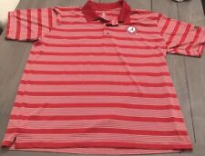 EUC Alabama Crimson Tide By Knights Apparel Red/White Golf Polo Mens Shirt XL