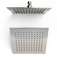 """8"""" Quadrato Moderno Piatto Sottile Slimline Cromo Soffione della Doccia Miscelatore da bagno 20cm"""