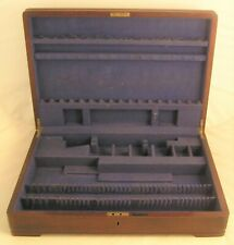 MAPPIN & WEBB Empty Racked 63 Piece Wooden Cutlery Chest / Cabinet for 8 People