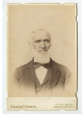 Cab Card Studio Portrait Man W/ Chin Whiskers From Greenfield, Oh, By Cassellman